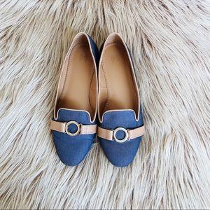Victoria's Secret Denim Blue Flats